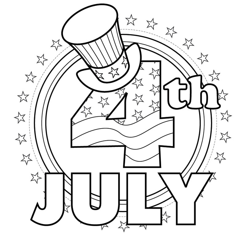 800x800 Independence Day Coloring Sheets Of July Coloring Pages