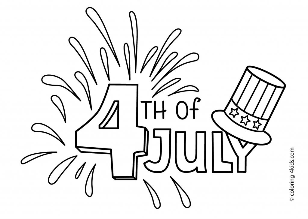 1024x730 Of July Coloring Pages Preschool Copy New Fourth July Coloring