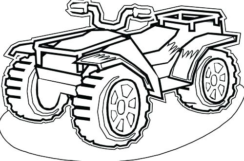 4 Wheeler Coloring Pages