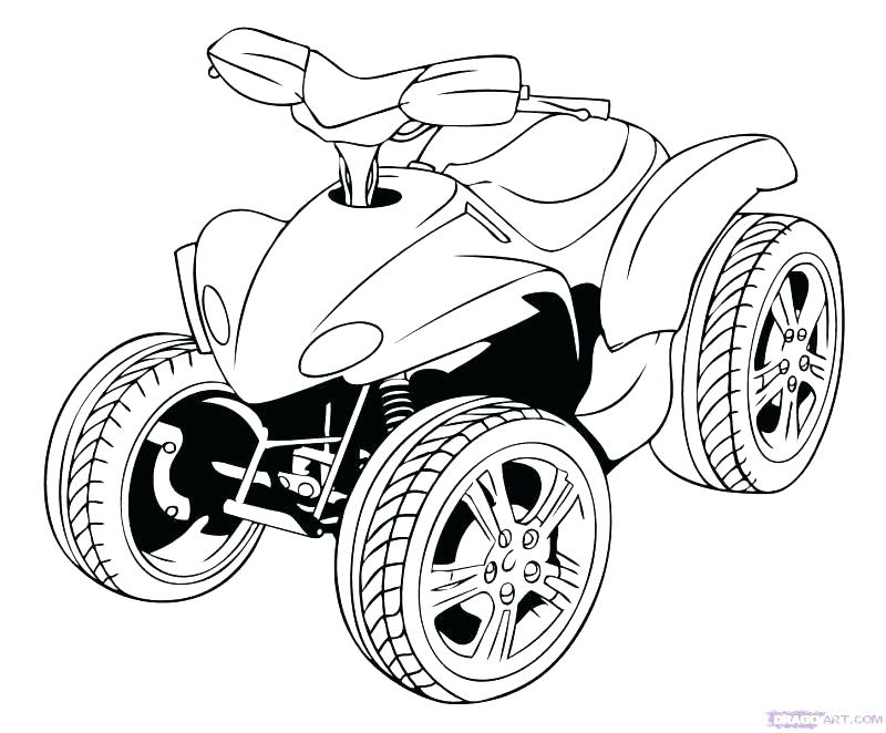 800x662 Wheeler Coloring Pages Four Wheeler Coloring Pages Four Wheeler