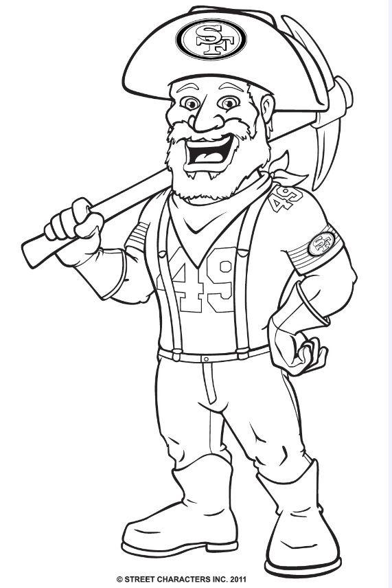 571x856 Mascot Sourdough Sam Coloring Page! San Francisco
