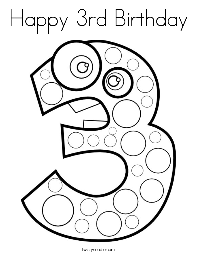 685x886 Happy Birthday Coloring Page