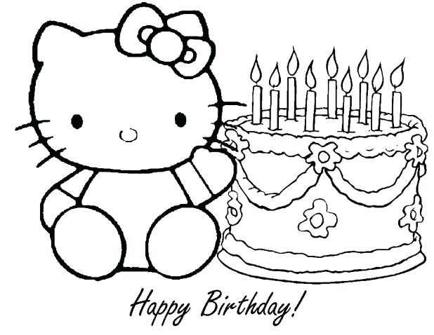 618x478 Happy Birthday Coloring Pages Coloring Pages Online For Adults