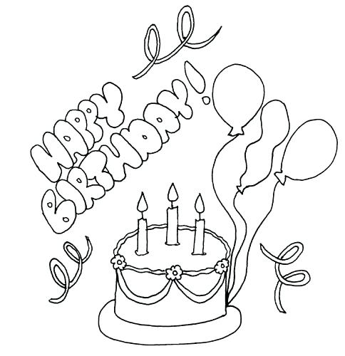 484x500 Happy Birthday Coloring Pages Printable Happy Birthday Card Happy