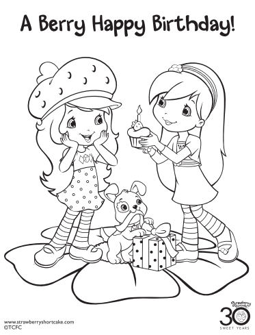 373x489 Strawberry Shortcake Birthday Party Printable Coloring Pages