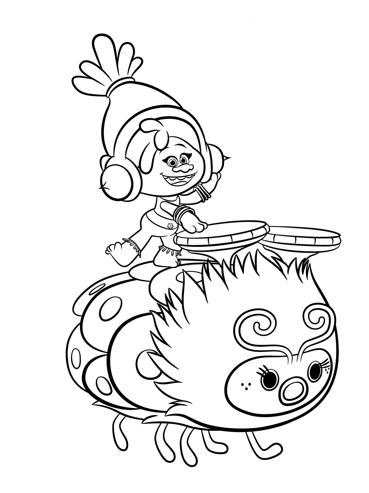 1200x1600 Trolls Coloring Pages To Download And Print For Free Toddler