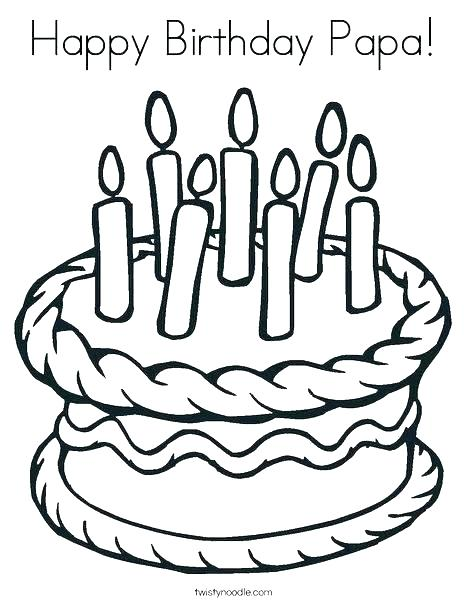 468x605 Happy Birthday Coloring Pages