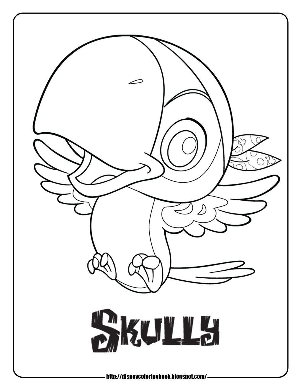 1020x1320 Jake And The Never Land Pirates Coloring Pages Skully Pirate