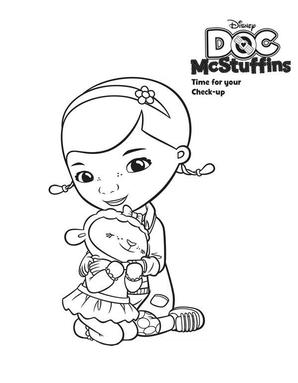 600x771 Doc Mcstuffins Coloring Pages Here Home Doc Mcstuffins Lambie