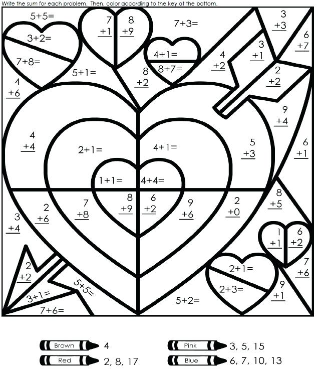 635x740 Math Color Page I On First Grade Coloring Pages Also For Graders