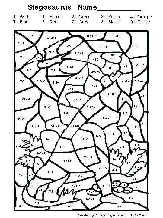 540x720 Math Coloring Pages Grade