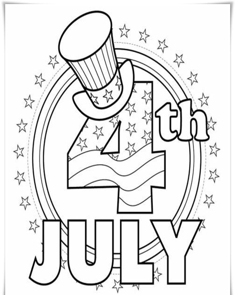 819x1025 Of July Coloring Pages For Preschoolers