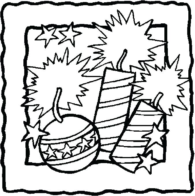 675x679 July Coloring Pages Coloring Pages Page Of Firecracker
