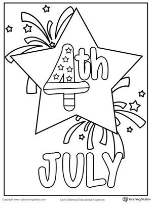 300x400 July Star Coloring Page