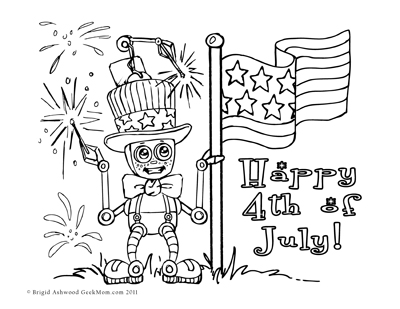 400x309 Fourth Of July Parade Colouring Page Classroom Helpers