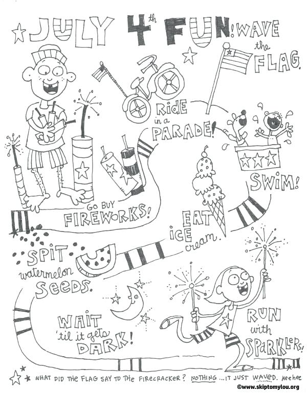 600x771 Free Coloring Pages Skip To My Fourth Of Coloring July