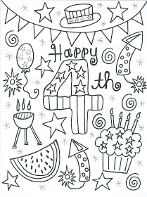 209x280 Of July Coloring Page Independence Day