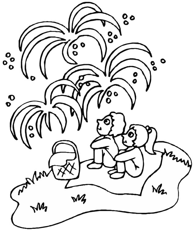 636x792 Fireworks Coloring Pages