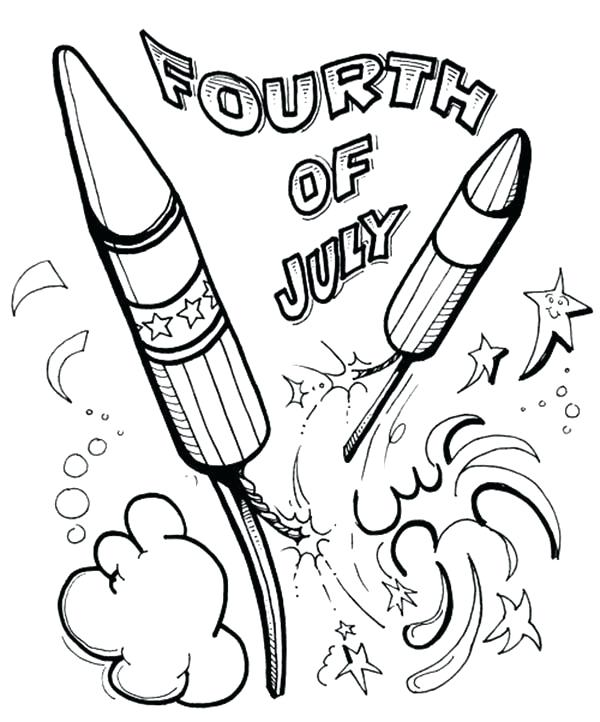 600x722 Launching Fourth Of July Coloring Sheets Pages Convobox Co