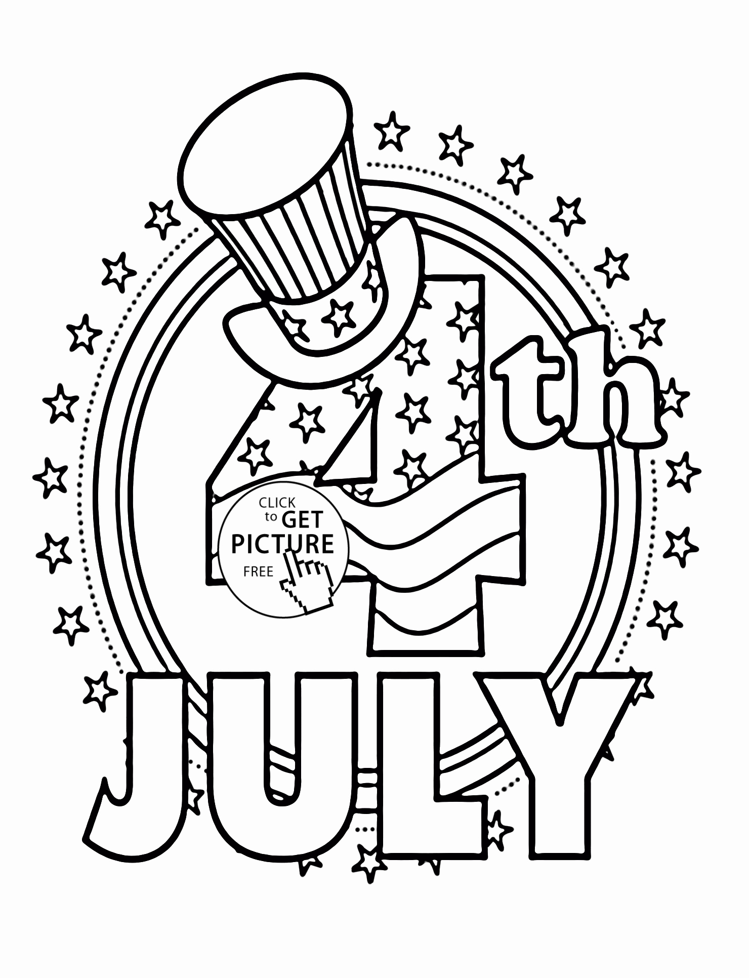 4th Of July Coloring Pages For Kids At Getdrawings Free Download