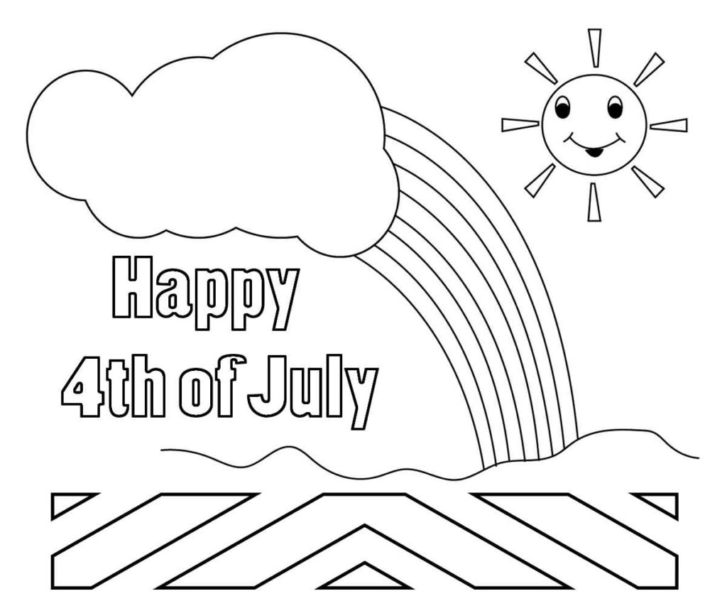 1024x853 Of July Coloring Pages Free