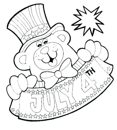450x500 Coloring Pages Of July Printable Fourth Of Coloring Sheets