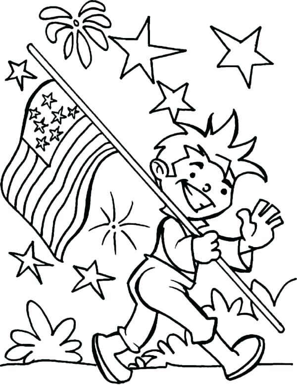 600x779 Fourth Of July Coloring Pages Funny Fourth Coloring Page Free
