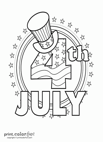 363x500 Fourth Of July Coloring Page