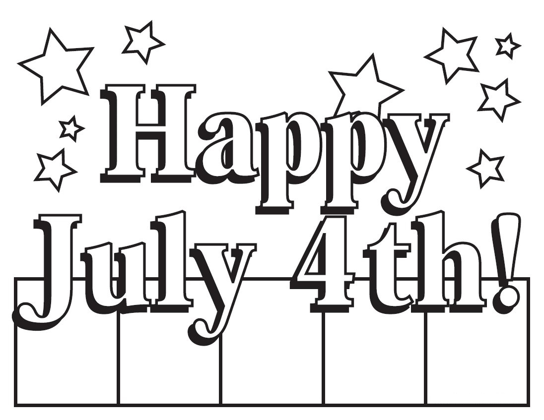 1096x847 Free Fourth Of July Coloring Pictures Printable Pages