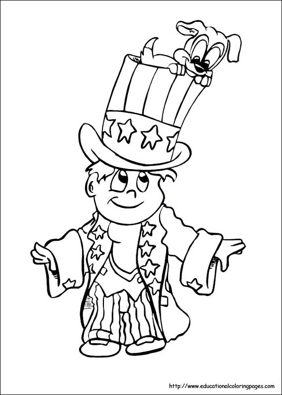 567x794 Of July Coloring Pages