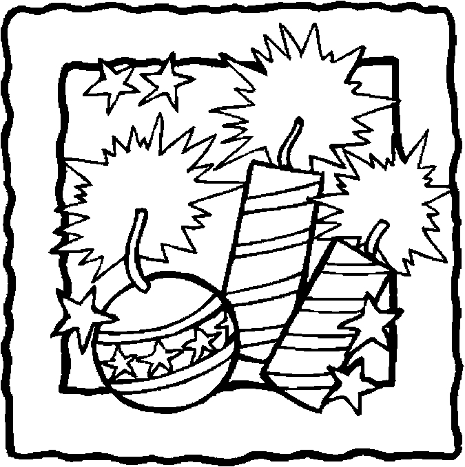 675x679 Popular Fourth Of July Coloring Pages To Print Firecrackers Kids