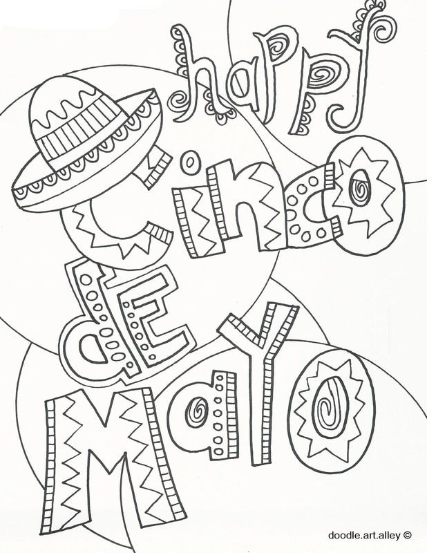 618x800 Cinco De Mayo Coloring Pages From Doodle Art Alley Print