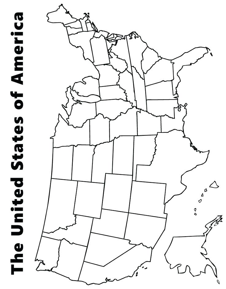 736x943 Map Of Us Coloring Page Map Of Us States Color Sheets Map Get