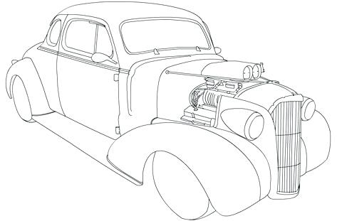 57 Chevy Coloring Pages At Getdrawings Free Download