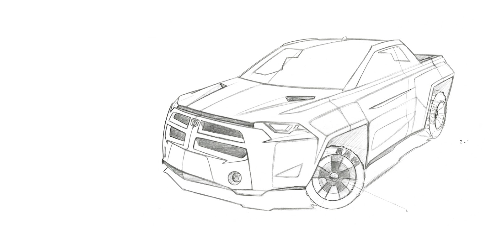 1600x721 Dodge Ram Coloring Page Many Interesting Cliparts