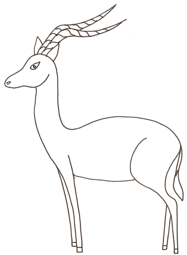 595x811 Impala Coloring Pages