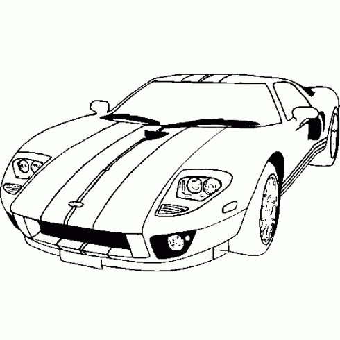 67 Mustang Coloring Pages