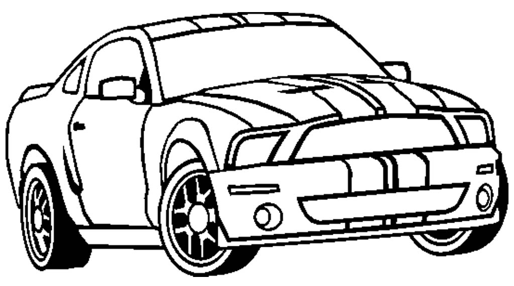 1024x569 Mustang Coloring Page
