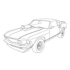 230x230 Printable Mustang Coloring Pages For Kids Bible
