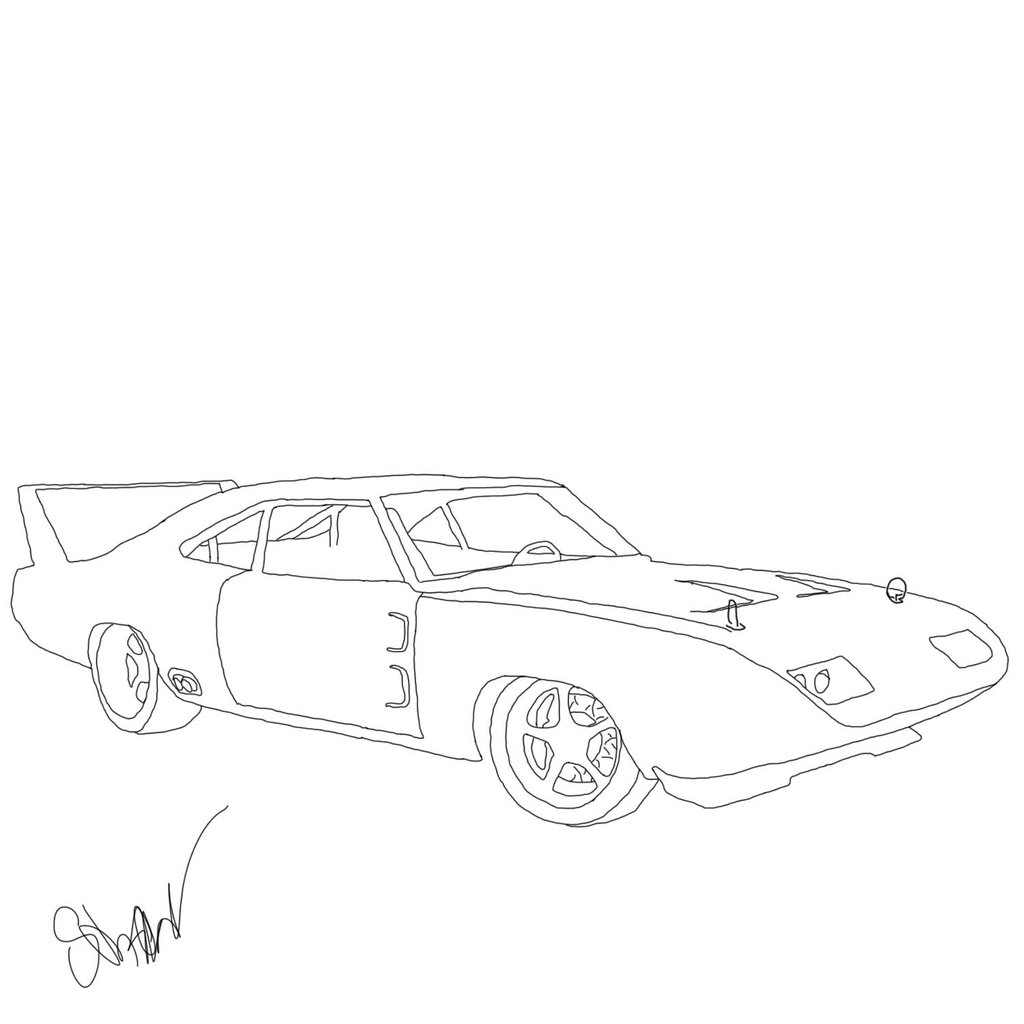 1024x1024 Fast And Furious Dodge Charger Coloring Pages