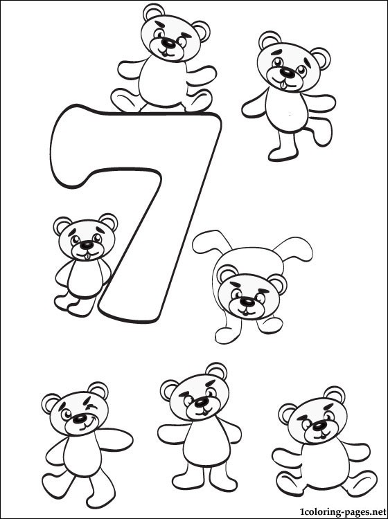 560x750 Number Seven Coloring Page Coloring Pages