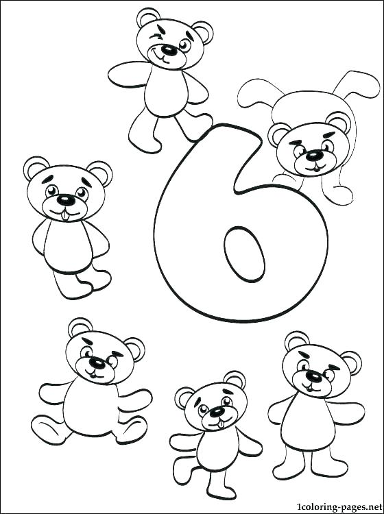 560x750 Numbers Coloring Pages Number Perfect With Additional Color