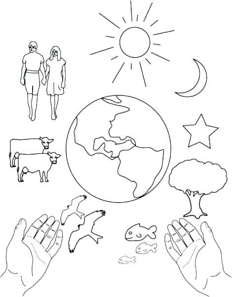 470x601 Coloring Pages For Creation Creation Coloring Pages Creation