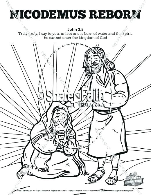 520x673 Creation Color Pages Bible School Coloring Pages John Bible