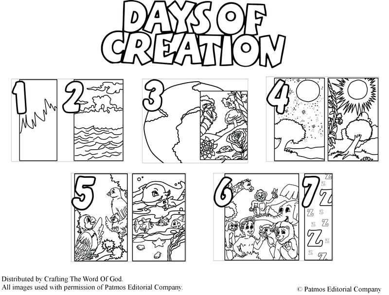 800x607 Creation Color Pages Days Creation Coloring Pages Seven Days