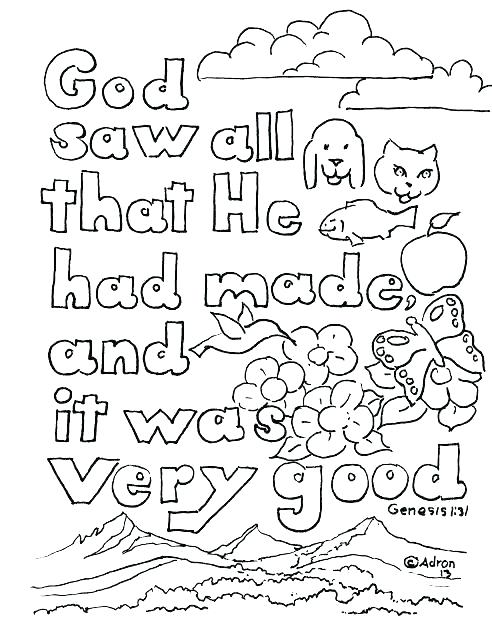 492x640 Creation Coloring Pages Days Of Creation Coloring Pages Seven