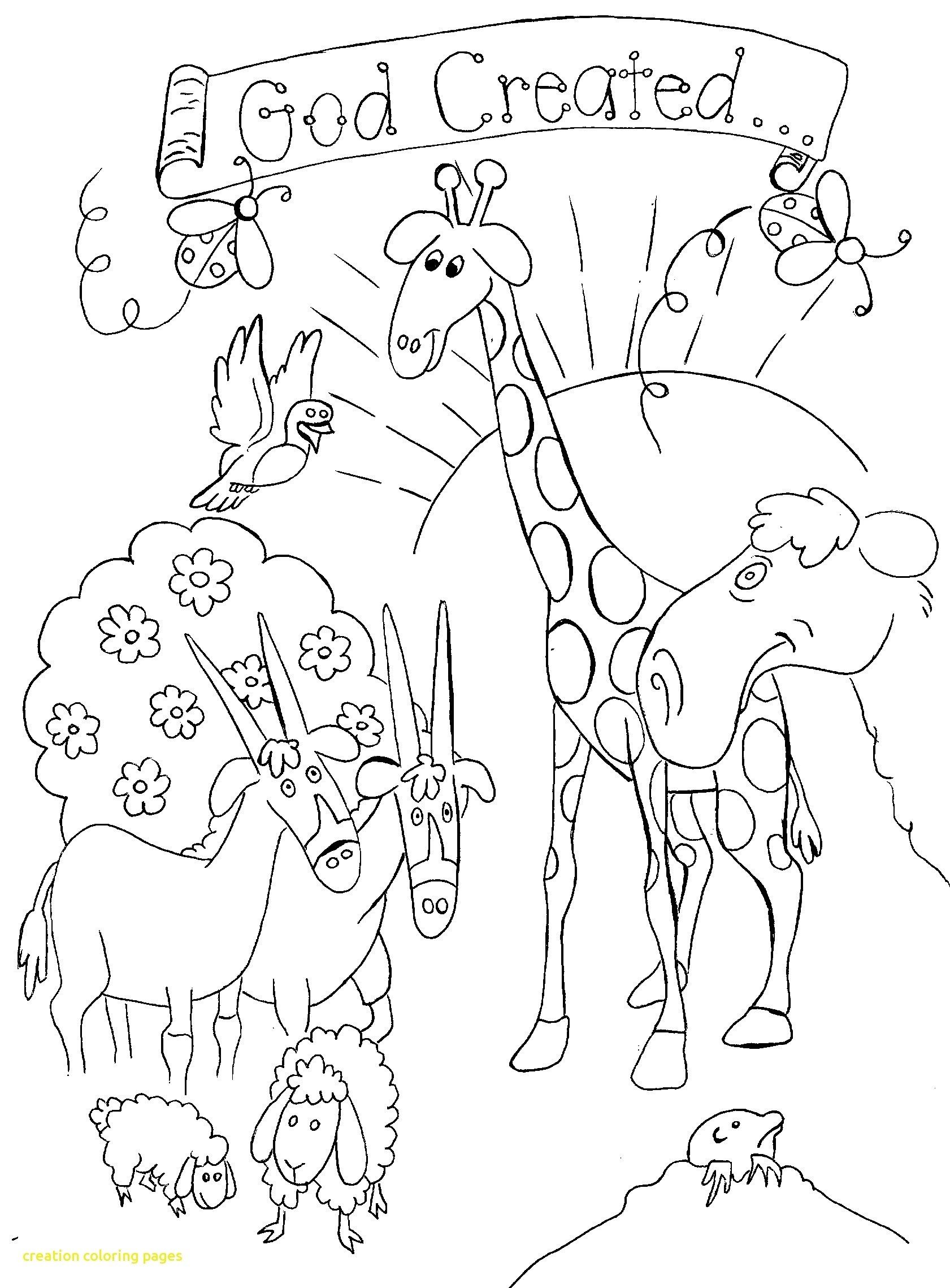1681x2278 Creation Coloring Pages With Seven Days Creation Early Printable