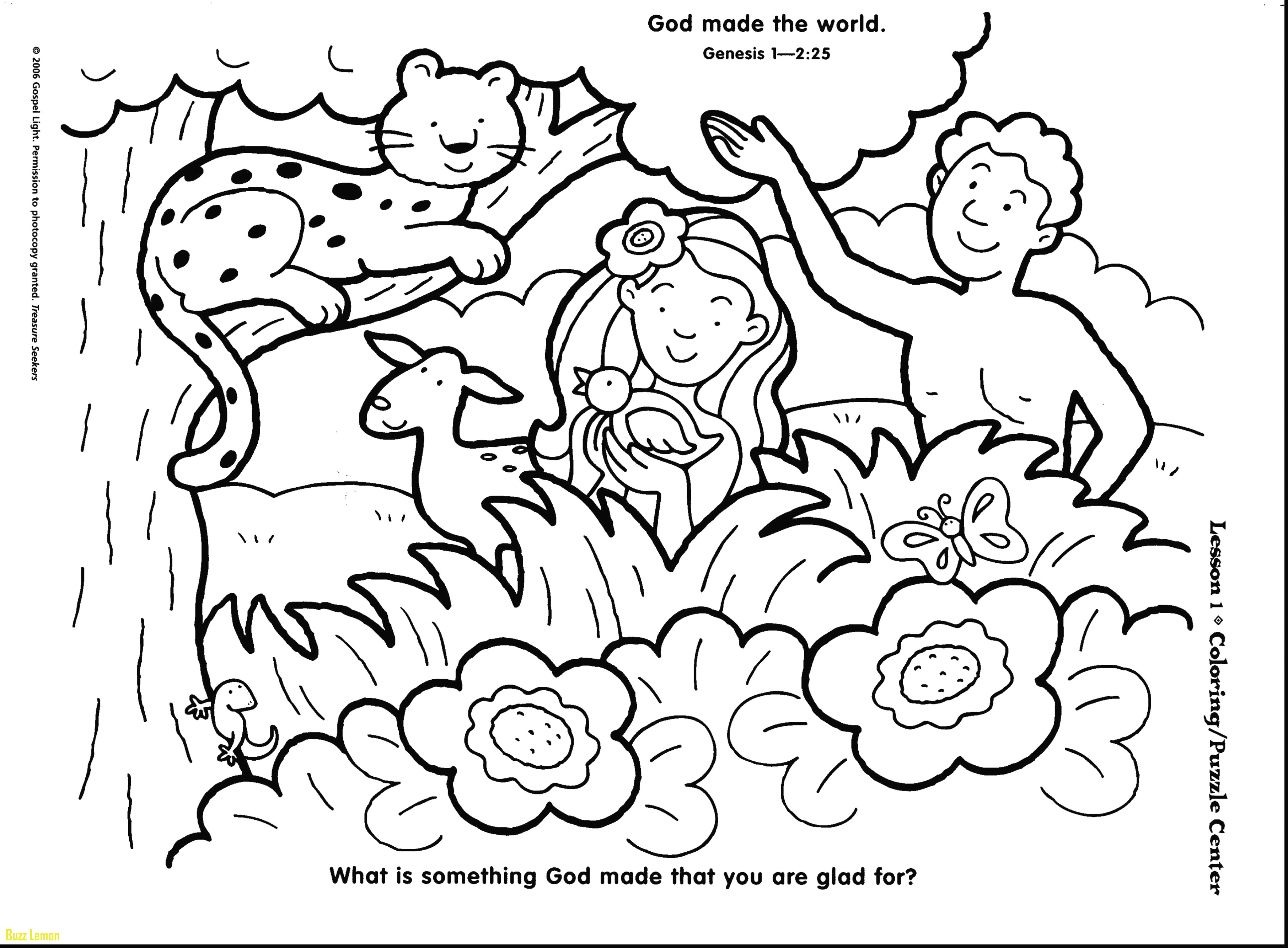 7 Days Of Creation Coloring Pages At Getdrawings Com Free For