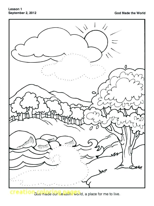 618x825 Days Of Creation Coloring Pages