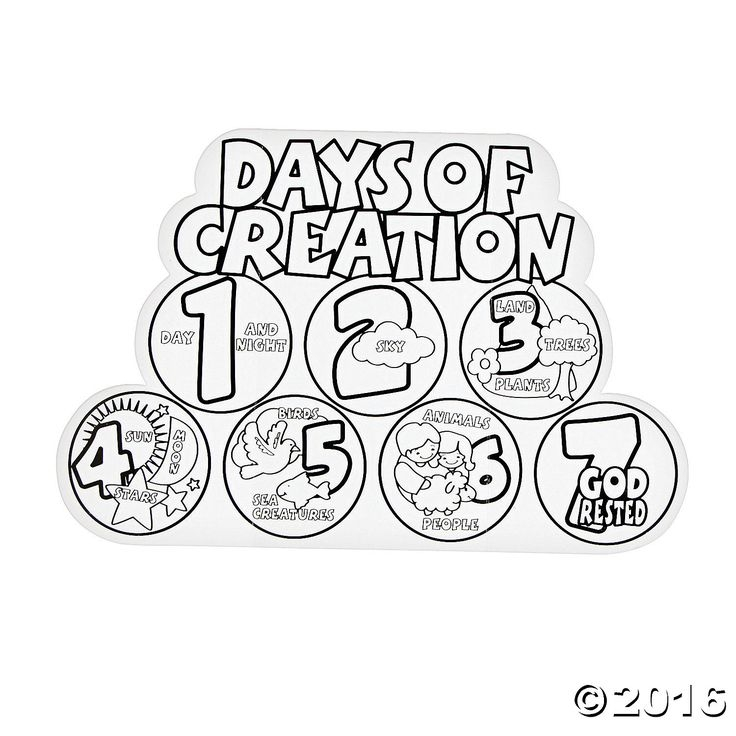 736x736 Days Creation Coloring Pages Awesome The Best Days